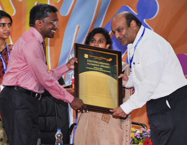 NIT TRICHY - DISTINGUISHED ALUMNUS AWARD FOR EXCELLENCE IN SERVICE TO SOCIETY AT LARGE